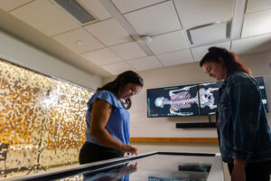 USF's Sciences division has an Anatomage Table used to enhance anatomy and physiology courses, advanced physiology and pathophysiology, and comparative anatomy.