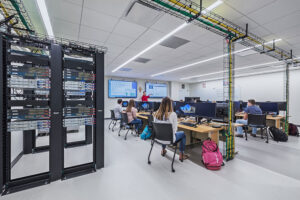 The Computer Science Lab offers the opportunity to get hands-on with servers and other computer technology.