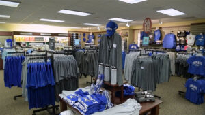 The USF Campus Shoppe has a variety of shirts and Cougar gear available for purchase