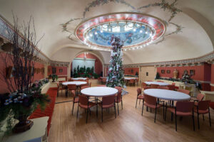 The Ballroom is all decked out for Christmas at the Castle