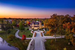 An aerial view of Brookside taken in the early morning hours