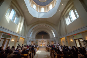 The interior of the St. Francis Chapel