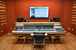 Studio A is built around a 32-channel Neve 5088 analog console and an Avid Pro Tools HDX System
