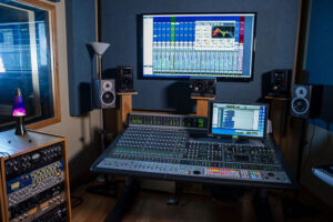 Studio B features a unique tracking room and single isolation booth, an Avid s6 digital console, HD IO and matrix interfaces, as well as a variety of outboard equipment.
