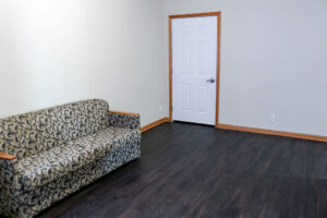 Apartments have a common area when you first enter