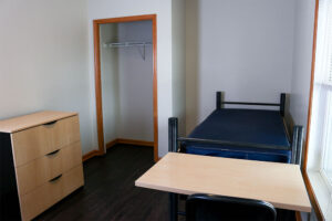 Each apartment comes with 6 single bedrooms