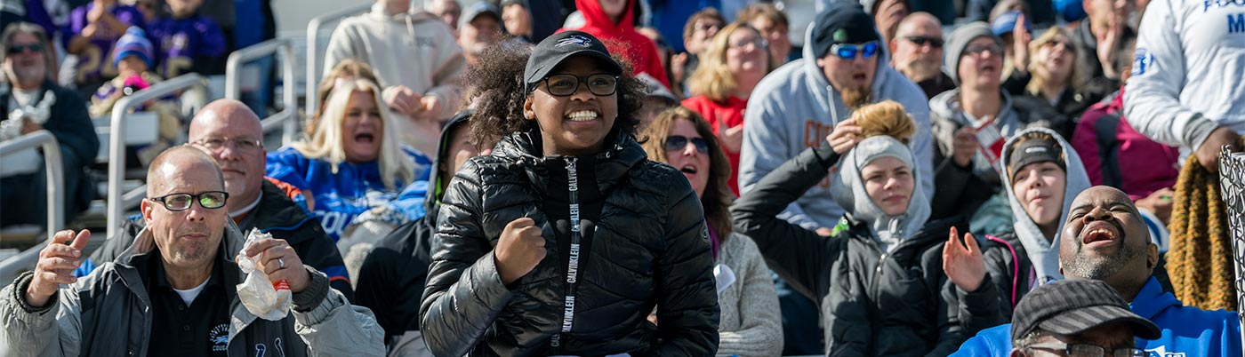 USF Football fans cheer on the Cougars during homecoming